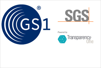 SGS transparency logo with GS1 logo